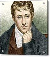 Humphry Davy, English Chemist Acrylic Print
