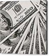 Hundred Dollar Bills Acrylic Print