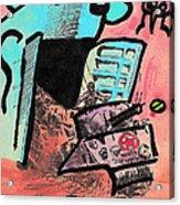 Hungry Robot Acrylic Print by Jera Sky