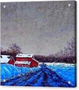 Hunterdon County Barns In Winter Acrylic Print