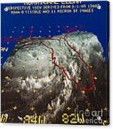 Hurricane Elena In 3-d Acrylic Print