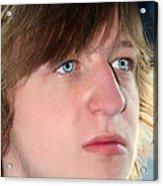 Hurt Teenage Boy Acrylic Print