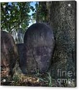 Husband And Wife Together Forever - Belleville Dutch Reformed Church - Husband And Wife Grave Acrylic Print