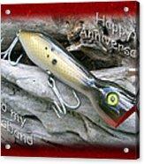 Husband Anniversary Card - Saltwater Fishing Lure - Popper Acrylic Print