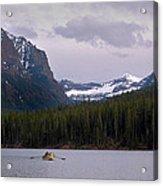 Hyalite Lake Rower Acrylic Print