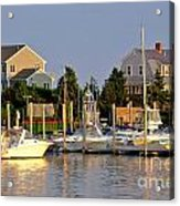 Hyannis Harbor At Sunset Acrylic Print
