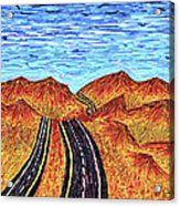 I - 15 Nevada To California Acrylic Print