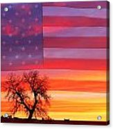 I Am Thankful To Be An American Acrylic Print
