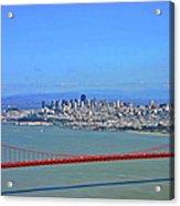 I Don't See No Stinkin' Fog Golden Gate San Francisco California Acrylic Print