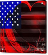 I Love America Acrylic Print by Wingsdomain Art and Photography
