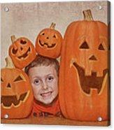 I Love Pumpkins Acrylic Print by Pat Abbott
