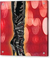 I Love The Night Life Patent Boots Acrylic Print