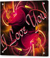 I Love You Card 2 Acrylic Print