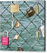 I Love You Paris Acrylic Print
