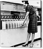 Ibm 1419 Magnetic Character Reader Read Acrylic Print by Everett
