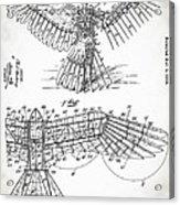 Icarus Patent 1889 Acrylic Print