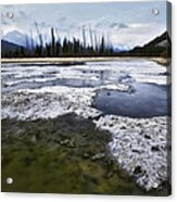 Ice And Water Vermilion Lakes Acrylic Print