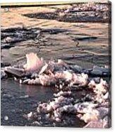 Ice At Sunset Acrylic Print