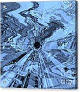 Ice Blue - Abstract Art Acrylic Print