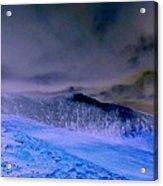 Ice Blue Stone Acrylic Print