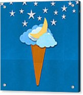 Ice Cream Design On Hand Made Paper Acrylic Print by Setsiri Silapasuwanchai