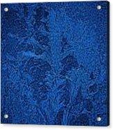Ice Crystals Blue Design Acrylic Print