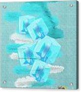 Ice Cubes Acrylic Print