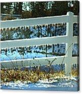 Ice Fence Acrylic Print