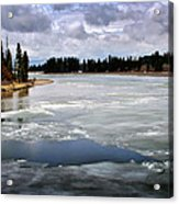 Ice On The Yellowstone River Acrylic Print