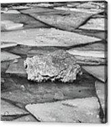 Ice Puzzle Holding Acrylic Print