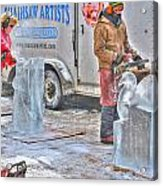 Ice Sculptures Coming About Acrylic Print