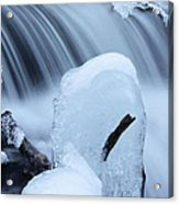 Ice Tombstone Frozen In Time Acrylic Print