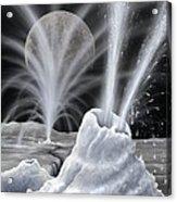 Ice Volcanoes On Charon, Artwork Acrylic Print