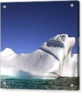 Iceberg In The Canadian Arctic Acrylic Print by Richard Wear