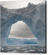 Iceberg With A Natural Arch, Antarctic Acrylic Print