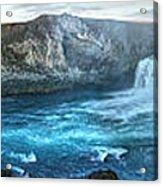 Iceland Godafoss Waterfall Panorama Acrylic Print