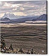 Iceland Stacked  Rocks Panorama Acrylic Print