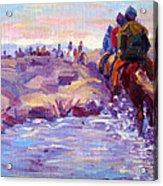 Icelandic Horse Trail Ride Acrylic Print