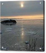 Icey Shore Black Beach Acrylic Print