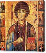 Icon Of Saint Pantaleon Acrylic Print by Science Source