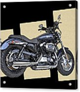 Iconic Harley Davidson Acrylic Print