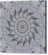 Icy Mandala 1 Acrylic Print