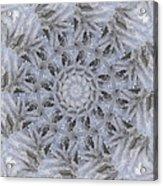 Icy Mandala 3 Acrylic Print