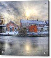 Icy River Panorama Acrylic Print
