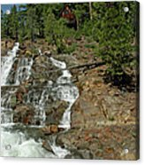 Icy Water Falls Glen Alpine Falls Acrylic Print