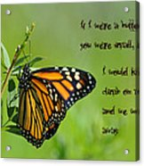 If I Were A Butterfly Acrylic Print by Bill Cannon