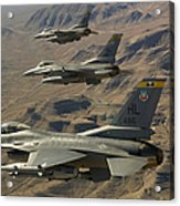 Ighter Jets Return From The Nevada Test Acrylic Print