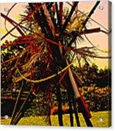 Ikebana Sunset Acrylic Print