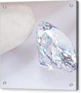 Illuminate Diamond Acrylic Print by Atiketta Sangasaeng
