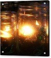 Illuminated Mason Jars Acrylic Print